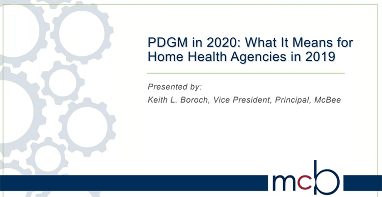 Webinar: PDGM in 2020