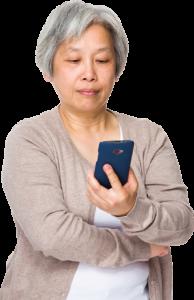 ASian Female Caregiver no BG