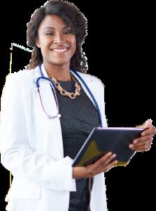 Black Doctor with tablet no bg copy