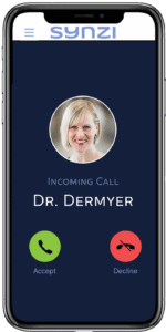 Dr Dermyer incoming call